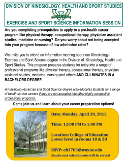 division of kinesiology, health and sport studies exercise and sport