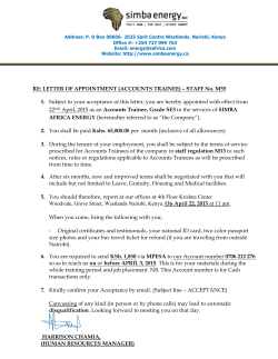 RE: LETTER OF APPOINTMENT (ACCOUNTS TRAINEE