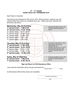 checkout slip - Collierville High School