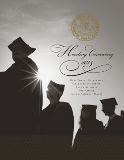 Hooding Ceremony - Commencement News