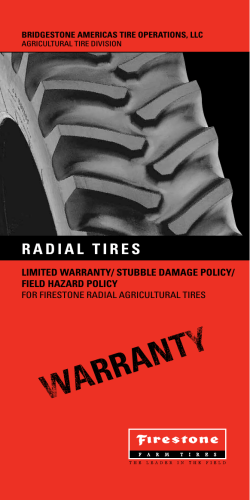 Agricultural Radial Tire Warranty