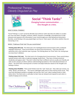 to see more about our Social Think Tank Program