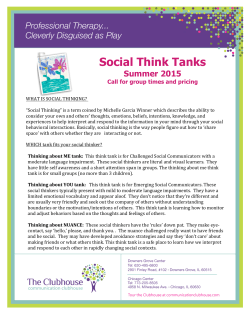 Social Think Tanks - Communication Clubhouse