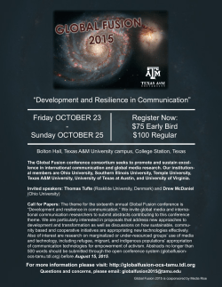 Global Fusion 2015 Conference - October 23-25