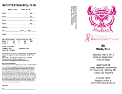 Race Registration - Community Breast Care Project