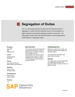 Exercise 4: Segregation of Duties Guide