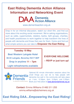 East Riding Dementia Action Alliance Information and Networking