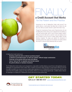 Introducing H3 WellnessPlus Dental credit accounts