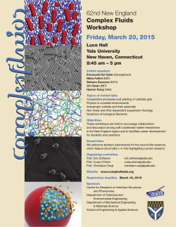 Directions - New England Complex Fluids Workgroup