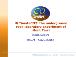 slides - organized by CO 2 GeoNet in collaboration with