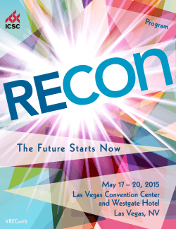RECon 2015 Program - Cushman & Wakefield