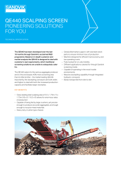 qe440 scalping screen pioneering solutions for you