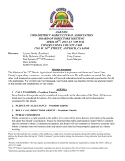 April 2015 Agenda - Contra Costa County Fair