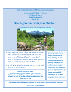 Sharing Nature with your Children