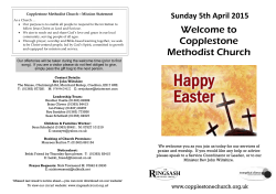 Welcome to Copplestone Methodist Church