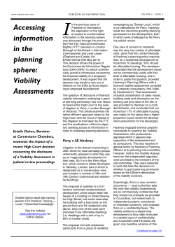 Freedom of Information journal - Volume 11, Issue 3 (January