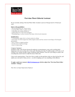 Part-time Photo Editorial Assistant - Chicago