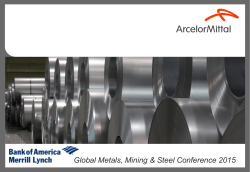Global Metals, Mining & Steel Conference 2015