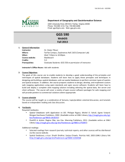 GGS 590-008 – Web GIS - George Mason University