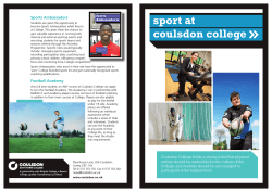 coulsdon college sport at