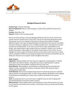 Biological Research Intern