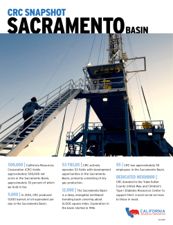 Sacramento - California Resources Corporation