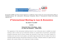 2d International Meeting in Law & Economics
