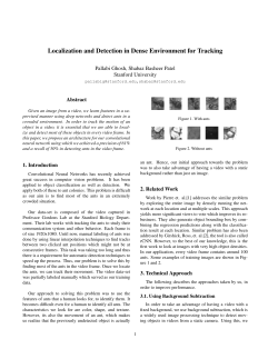 Localization and Detection in Dense Environment for Tracking