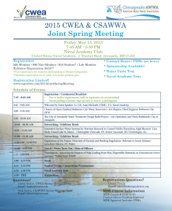 2015 CWEA & CSAWWA Joint Spring Meeting
