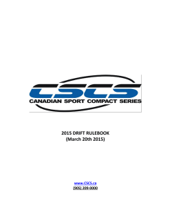 2015 Drift Rule Book - Canadian Sport Compact Series