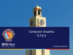 Computer Graphics IS F311 - Computer Science & Information