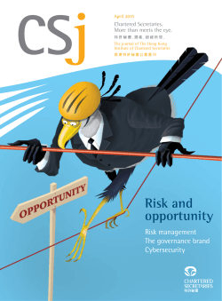 Risk and opportunity - CSJ Magazine