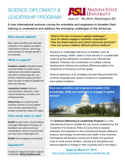 Flyer - Consortium for Science, Policy & Outcomes