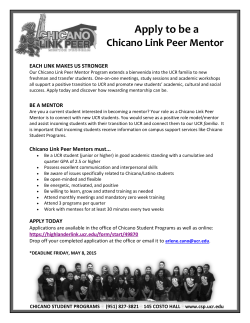 Apply to be a - Chicano Student Programs