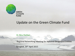 The Green Climate Fund and its National Designated Authorities