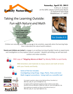 Taking the Learning Outside: Fun with Nature and Math