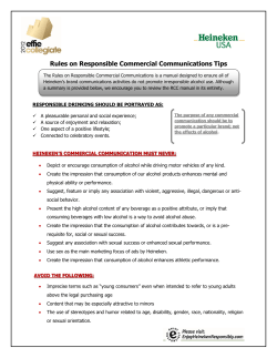 Rules on Responsible Commercial Communications Tips
