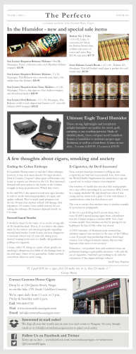 Volume 3 Issue 1 - Customs House Cigars