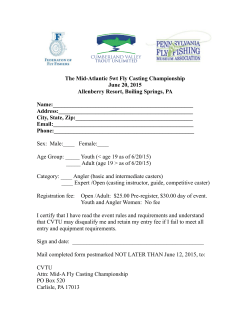 The Mid-Atlantic 5wt Fly Casting Championship June 20, 2015