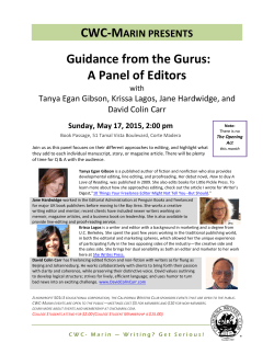 CWC-MARIN PRESENTS Guidance from the Gurus: A Panel of Editors