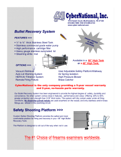 Bullet Recovery System Safety Shooting Platform