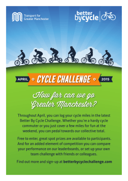 Throughout April, you can log your cycle miles in the latest Better By