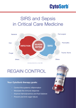 SIRS and Sepsis in Critical Care Medicine