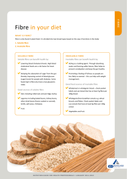 Fibre in your diet