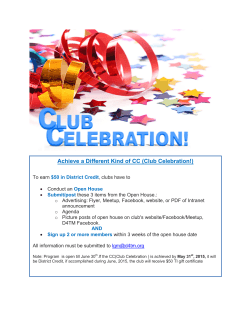 Achieve a Different Kind of CC (Club Celebration!)