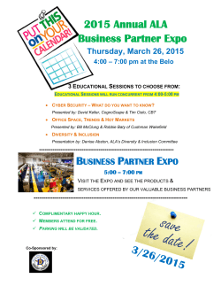 2015 Annual ALA Business Partner Expo