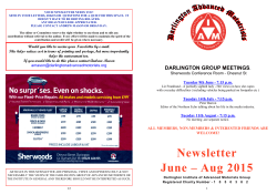 Mar – May 2015 Newsletter - Darlington Advanced Motorists