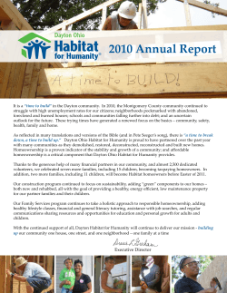 2010 Annual Report - Habitat for Humanity