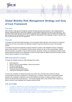 Global Mobility Risk Management Strategy and Duty of Care