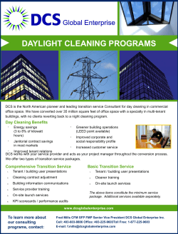 Daylight Cleaning Services Brochure